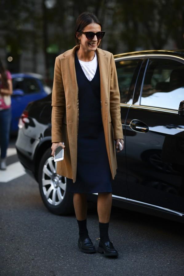 Streetstyle Layering Kleid Socke Modepilot