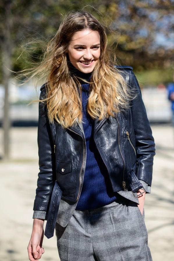 Streetstyle Lederjacke Anzug Sommer Modepilot
