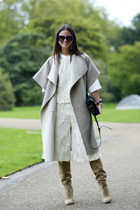 Street style Woll Weste Stiefel Modepilot