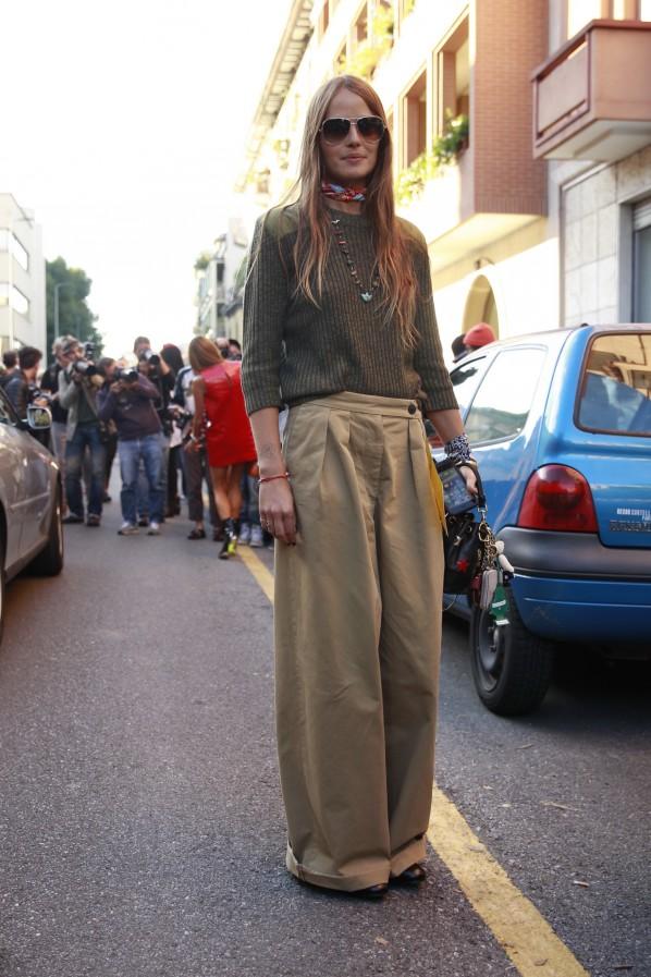 Streetstyle weite Hosen Halstuch Modepilot