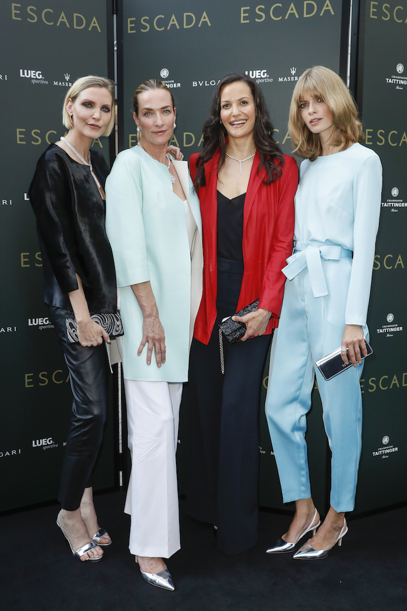 Escada Shop Event Nadja Auermann Tatjana Patitz Julia Stegner Modepilot