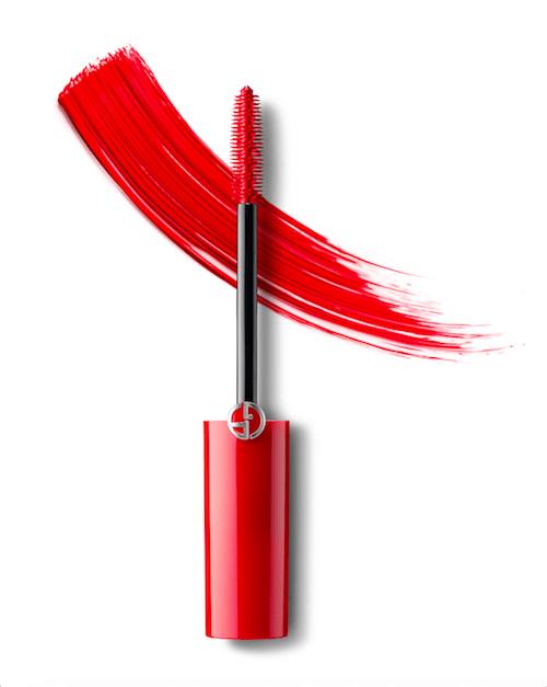 Giorgio Armani Cosmetics Wimperntusche rot EM Make-up Mascara Modepilot