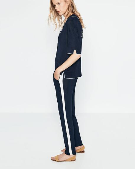 Hose mit Seitenstreifen aus der aktuell reduzierten Zara-Collection.