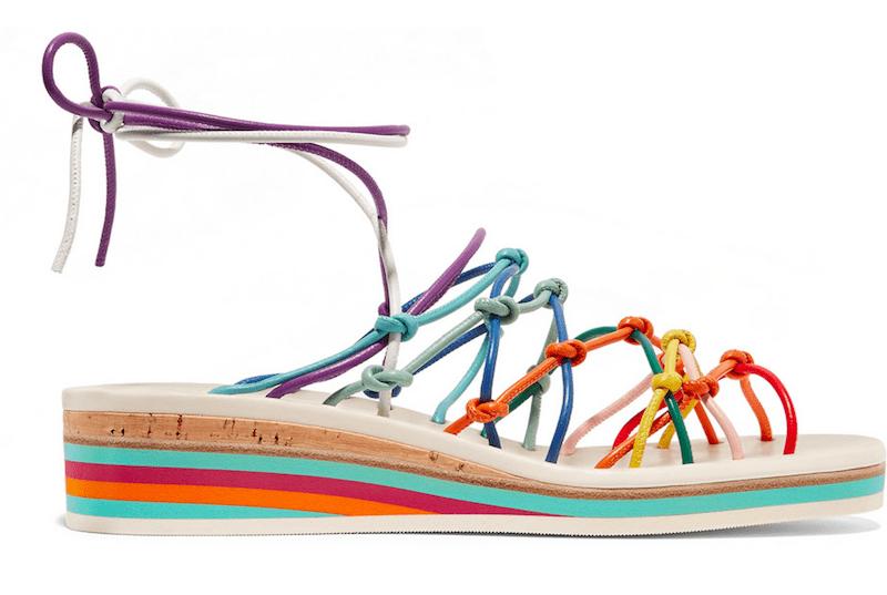 Chloe Regenbogen bunt Sandale rainbow Modepilot