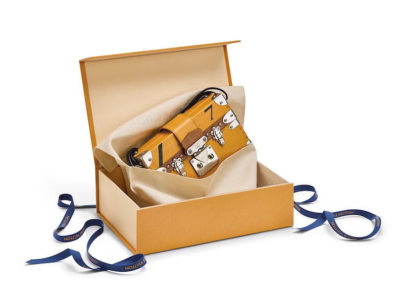 Karton Louis Vuitton Modepilot Gelb