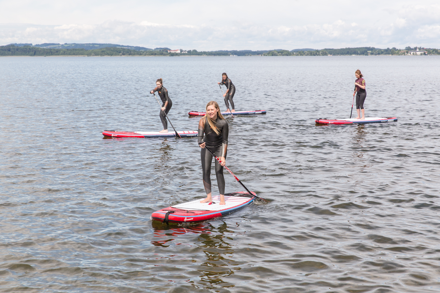 Stand up paddling yoga chiemsee modepilot
