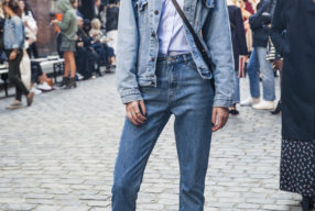 street style denim on denim candaian tuxedo kopenhagen modepilot