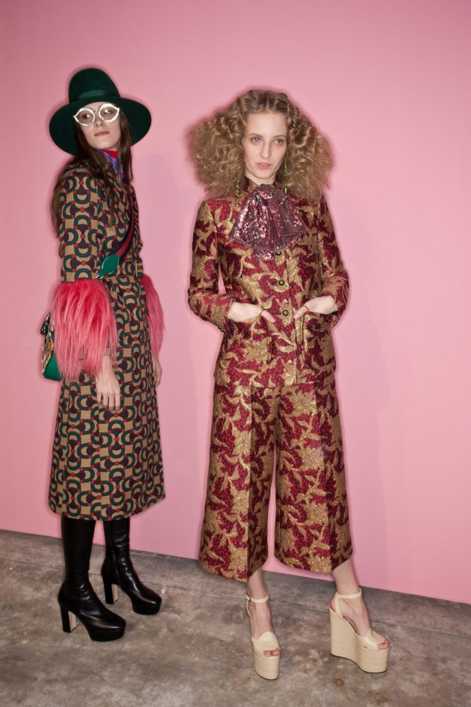 Gucci winter 2016 - 2017 womenswear Backstage Pixelformula Milan