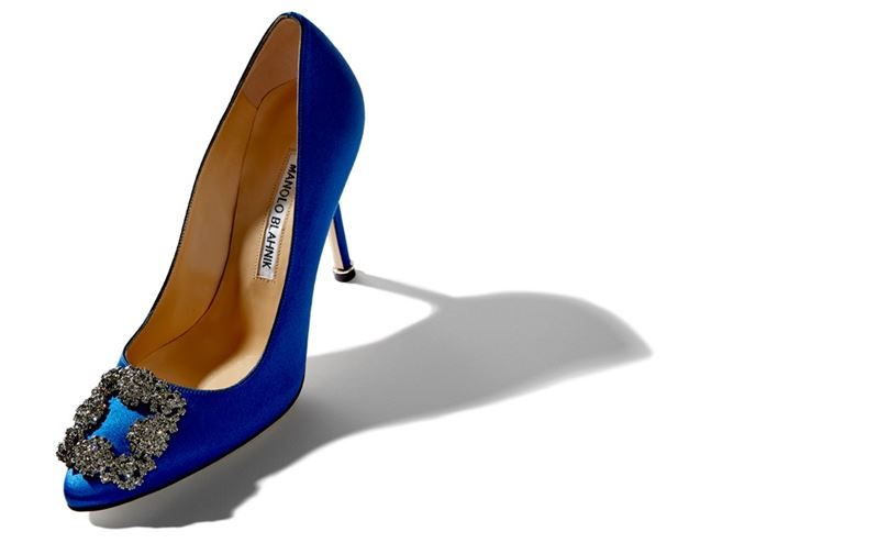 Pumps blau carrie manolo sex and the city modepilot
