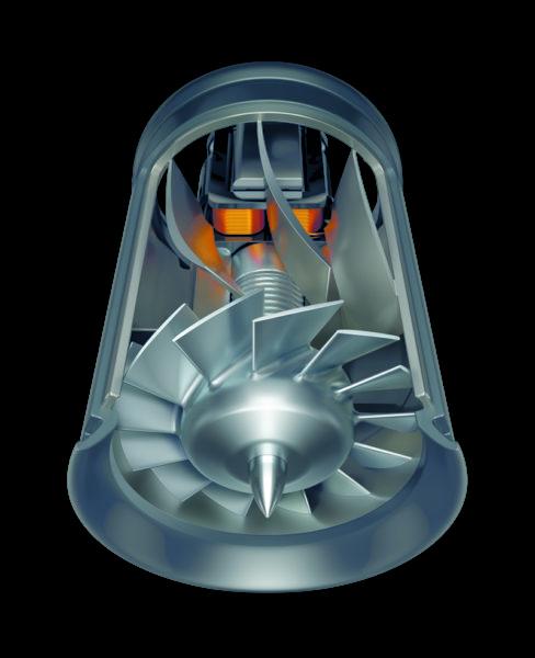 Der nicht mal 5 cm lange und 3 cm breite Motor schafft 11000 Umdrehungen pro Minute.