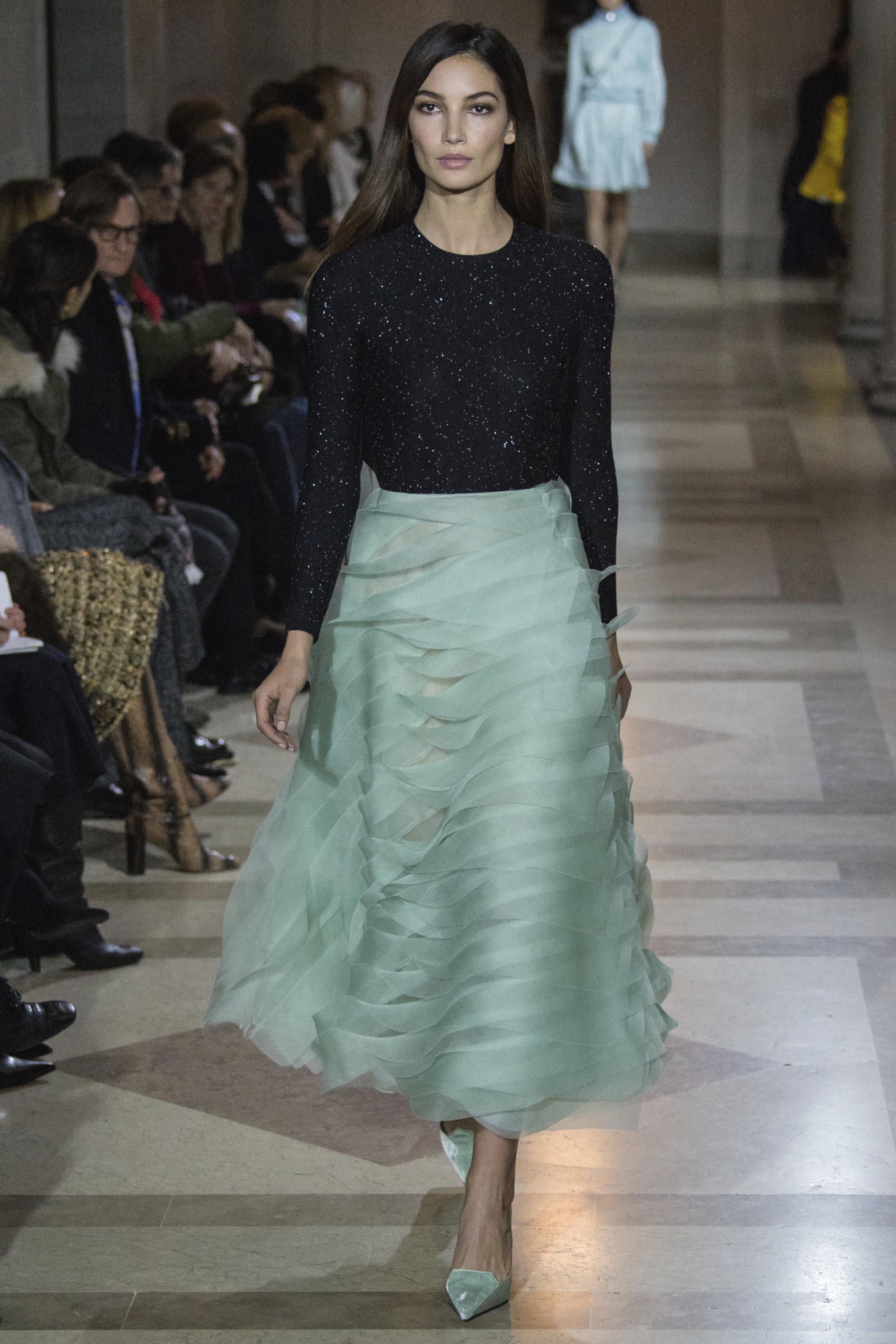 Lily Aldridge für Carolina Herrera