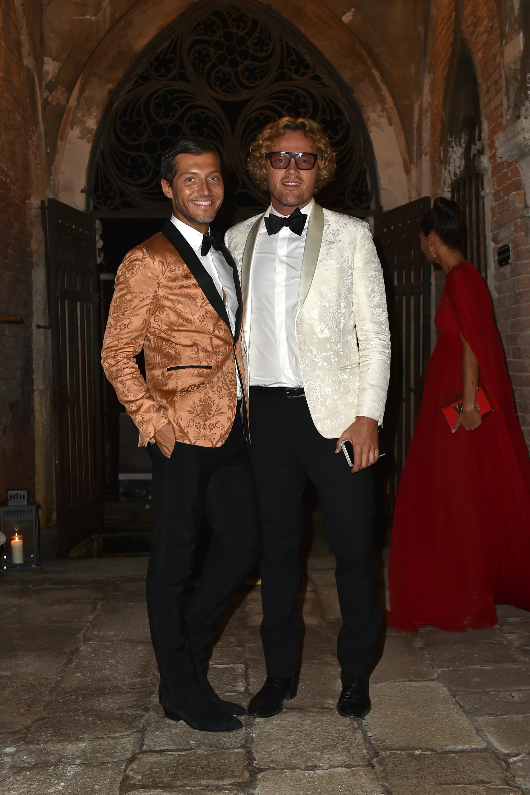Peter Dundas (re) und Evangelo Bousis bei einem Valentino-Dinner zu ehren von Vogue Italia-Chefredakteurin Franca Sozzani