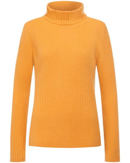 gelb cashmere pullover rollkragen modepilot