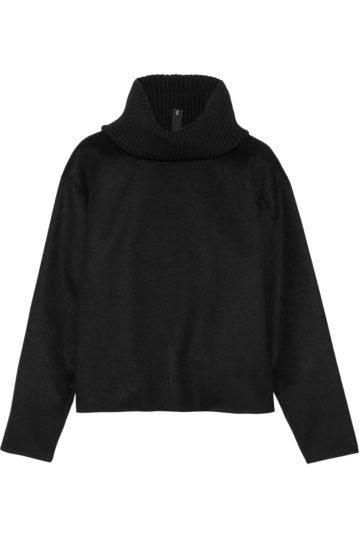 Rollkragen-Pullover im Hoodie-Look