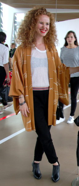Kimono zum sportlichen Tank-Top aus Mesh