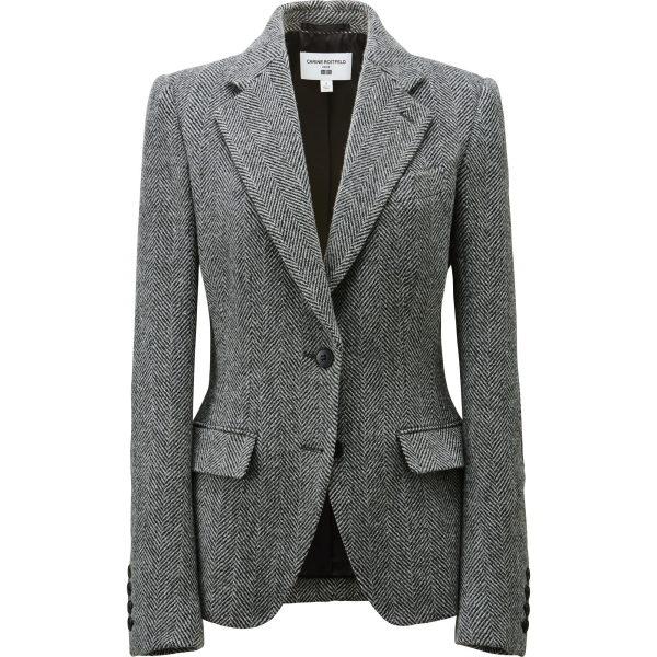 Jacke im Balenciaga-Stil mit schmaler Taille und ein bisschen Peplum hinten. Kratzt ein bisschen wegen des 50% Wollanteils.