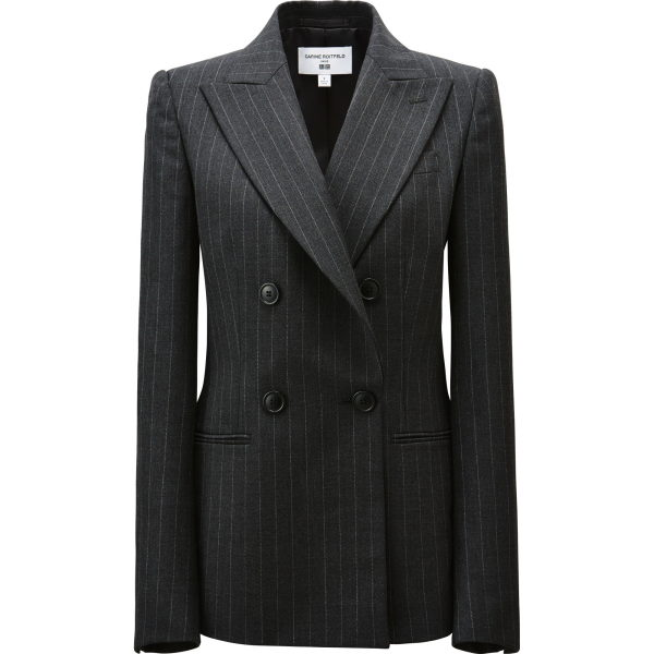 Diesen Blazer habe ich mir gekauft. 99 Euro für eine perfekt geschnittene Anzugjacke mit Nadelstreifen aus 50% Wolle und Polyamid. Hinweis: Die 100% Polyamid-Jacken bei Uniqlo kosten auch schon 79 Euro. Dieses Jackett lohnt sich. M entspricht einer 36er Größe.