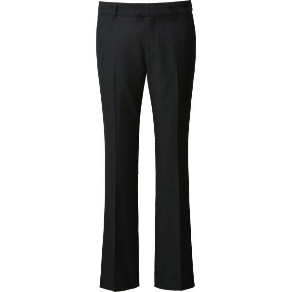 Die Hose zum Jackett. Unten mit leichtem Schlag.  Kratzt ein bisschen wegen der Wolle, guter Schnitt, leider eine Hüfthose. Sie könnte höher geschnitten sein.