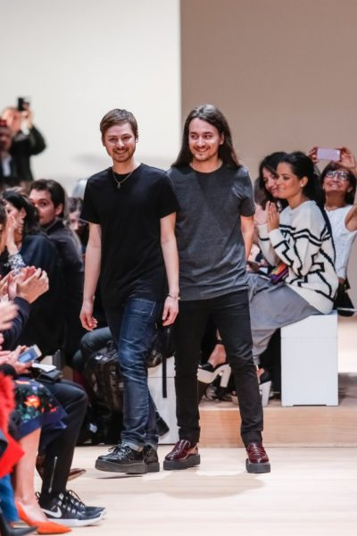 Die scheidenden Designer von Carven: Alexis Martial (rechts) and Adrien Caillaudaud (links).
