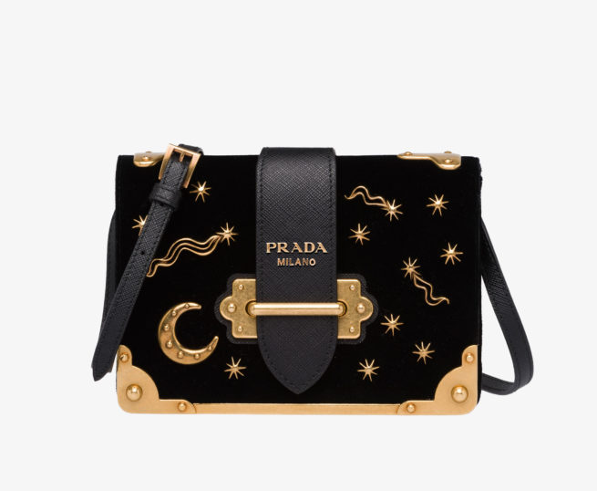 Prada handtasche klein gold