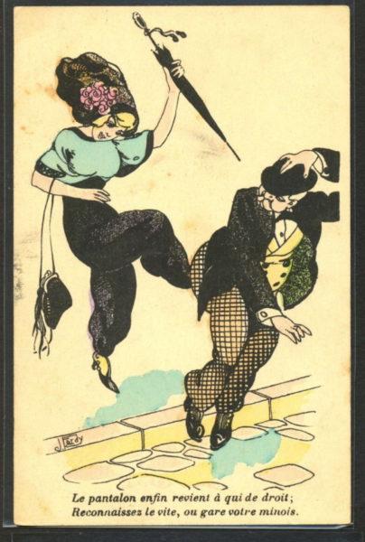 Paris 1910: Endlich kommt die Hose für Frauen zu ihrem Recht.