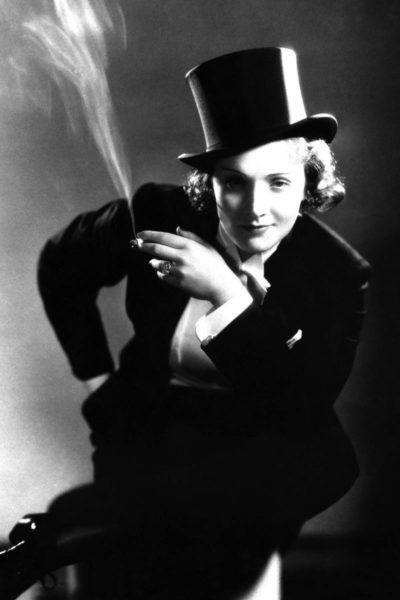 Marlene Dietrich, 1930 im Film Marokko.