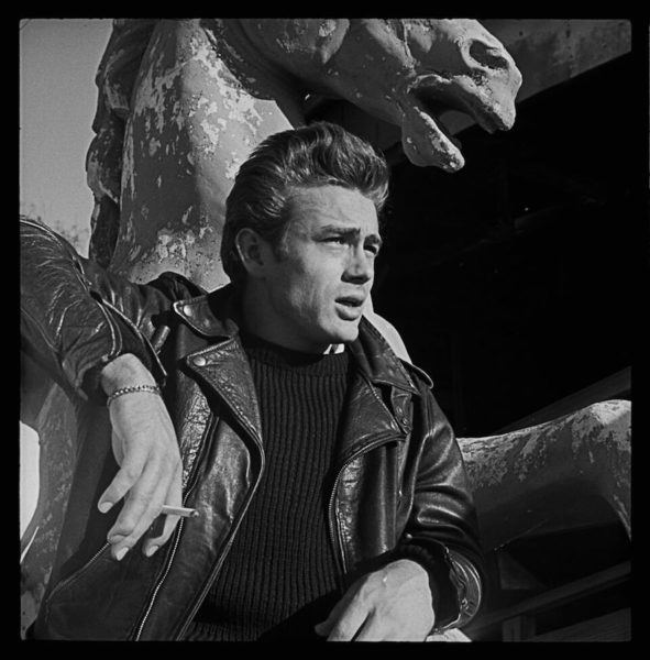 James Dean in a Schott leather jacket