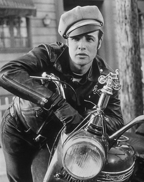 Marlon Brando in a leather jacket by Schott