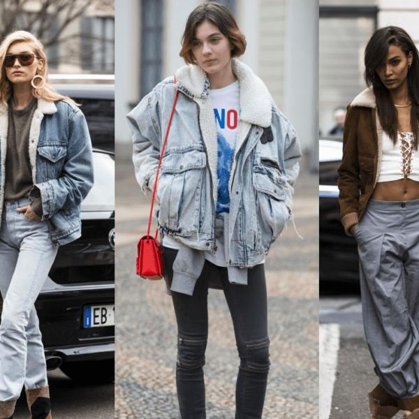 Street Style: Models in Lammfell