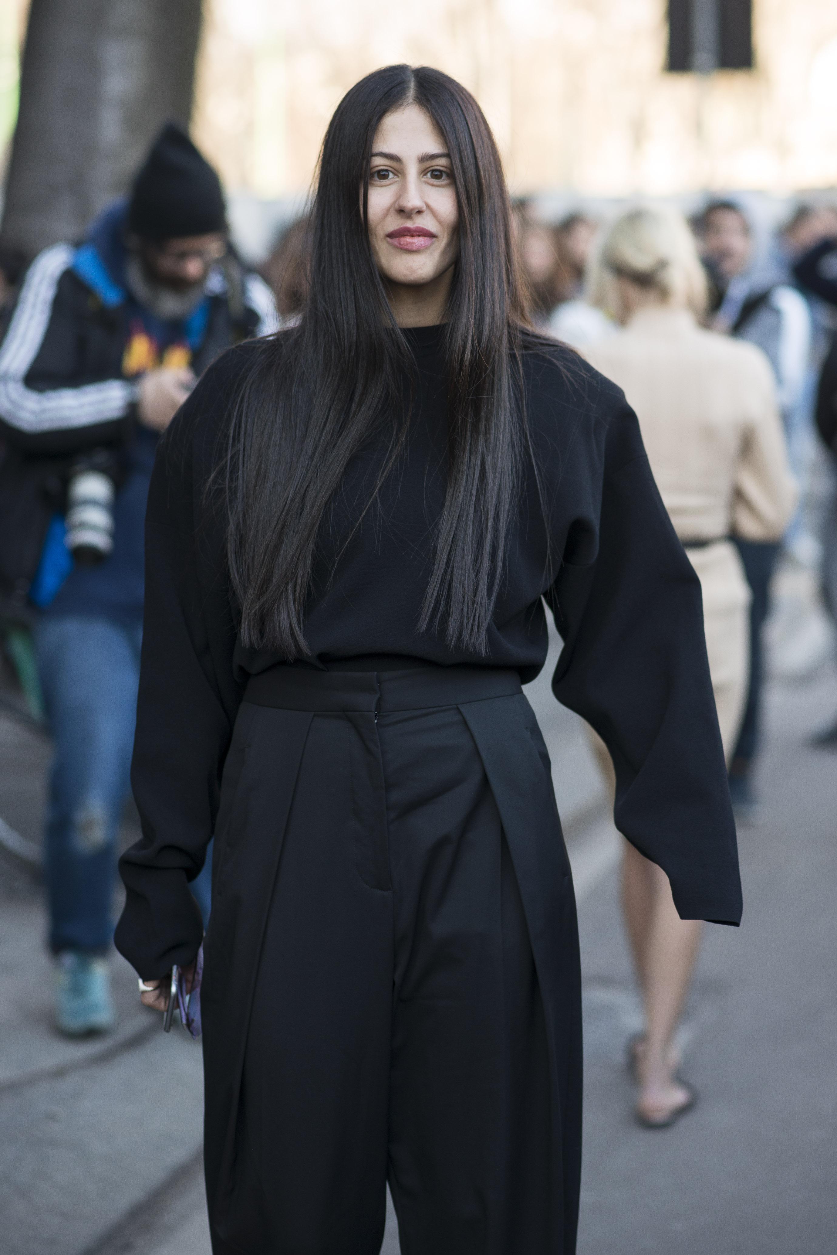 Gilda Ambrosio hair haare style lang sleek