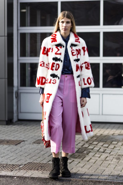 Veronika Heilbrunner (hey-woman.com) in a Gucci coat