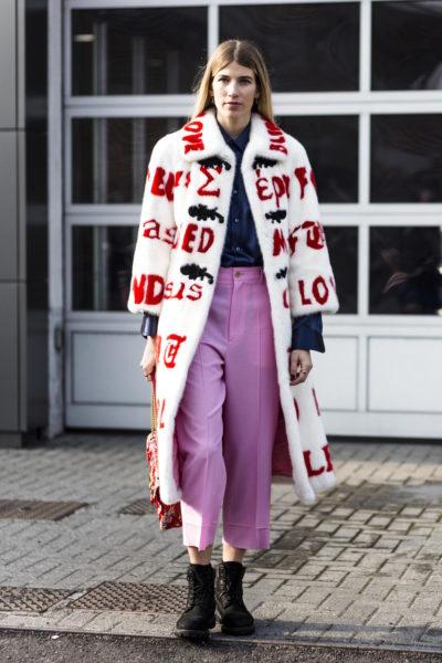 Veronika Heilbrunner (hey-woman.com) in a Gucci coat