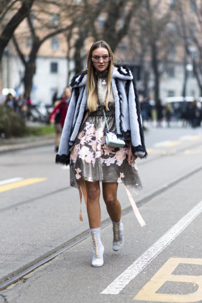 Influencer Nina Suess in Fendi