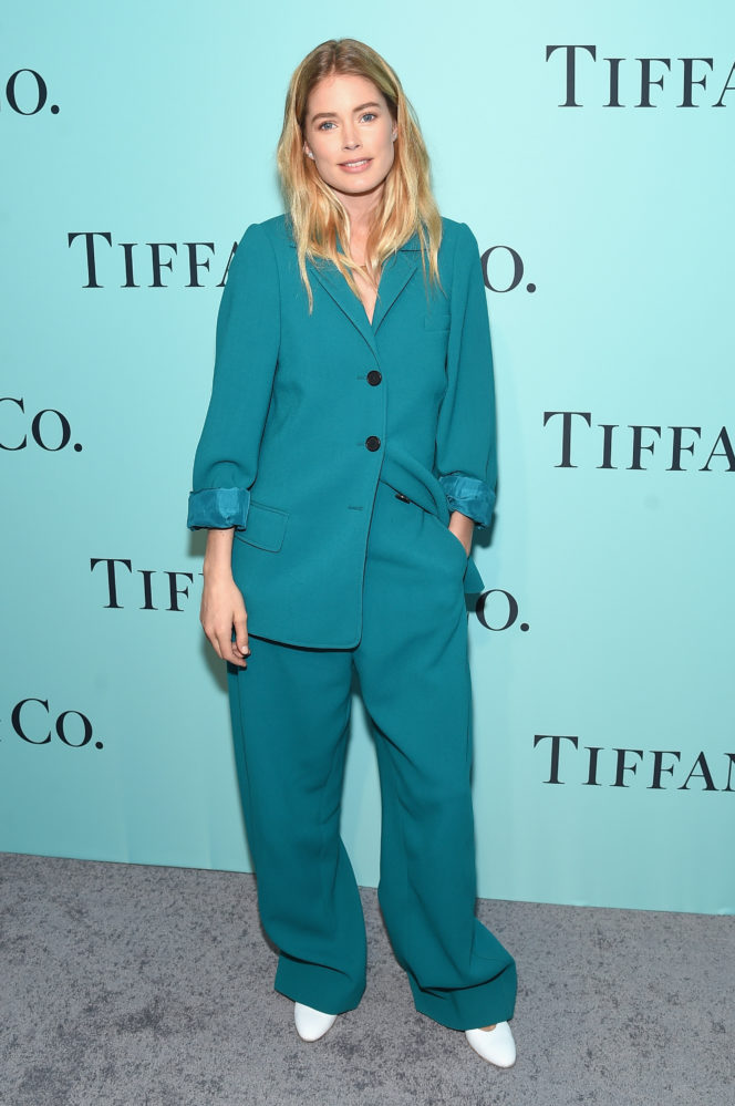 Model Doutzen Kroes Celine Suit Style Tiffany