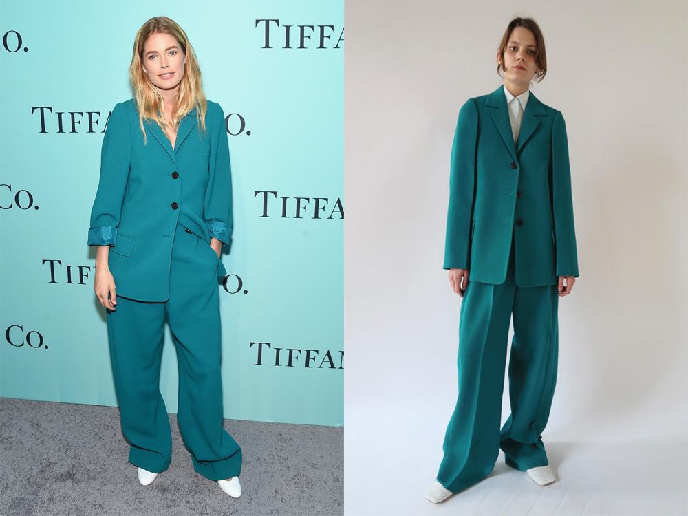 Style: Model Doutzen Kroes trägt einen Hosenazug von Céline