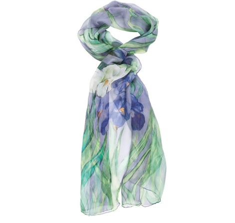 Schal mit Van Goghs Irisblumen