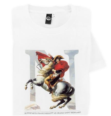 T-Shirt mit Napoleon Bonaparte, gemalt von Jacques-Louis David