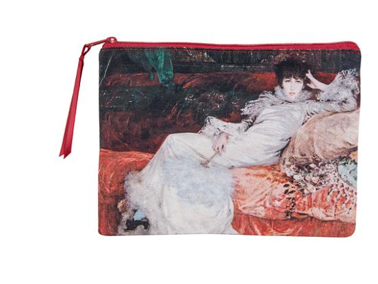 Clutch mit Sarah Bernhardt, Gemälde von Charles Jules Victor Clairin