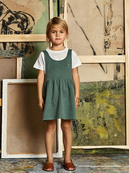 Grünes Trägerkleid aus 100 % Baumwolle von Gray Label, über Anni Bazaar