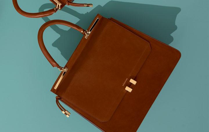 Maison Heroine Modepilot Handtasche Aktentasche Cognac Leder