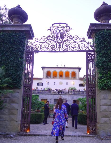 Eingang zur Villa Palmieri, das auch Giovanni Boccaccio's Decameron beschrieben wird.