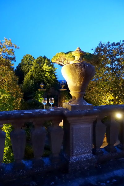 Blick in den wundervollen Garten der Villa Palmieri
