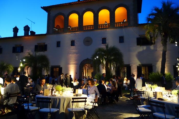 Diner bei Brunello Cucinelli in der Villa Palmieri