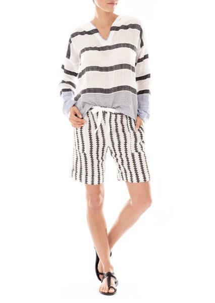 Shirt und Bermuda aus Gaze-Baumwolle von LemLem