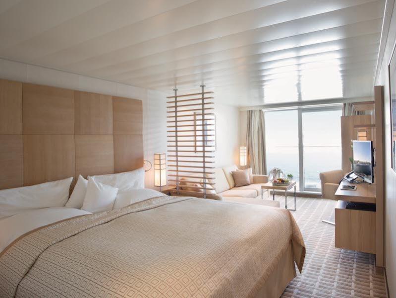 Schlaf- und Wohnbereich der Veranda Suite