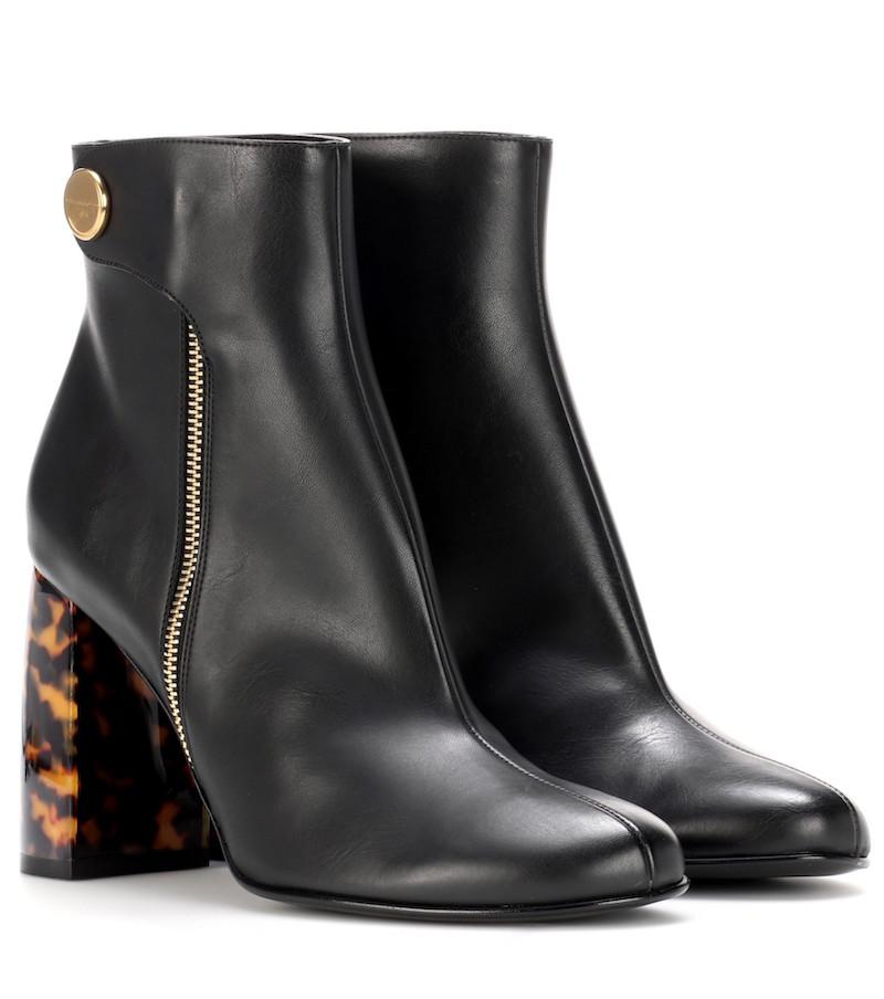Stella McCartney booties Stiefelette schwarz Schild Modepilot Mytheresa