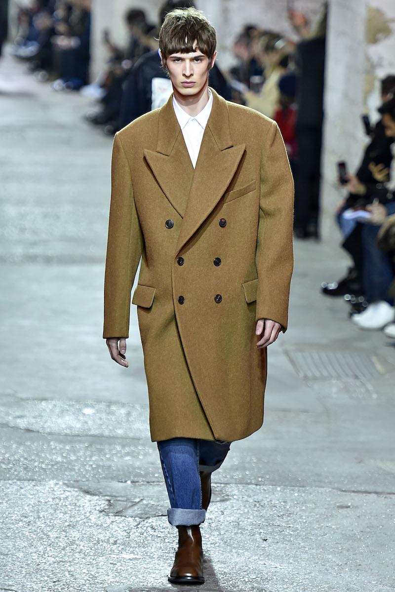 Dries Van Noten Modepilot coat men Mantel Herren