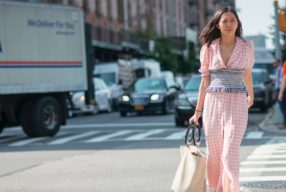 Zara Bustier Hack Karo Streetstyle Check Modepilot