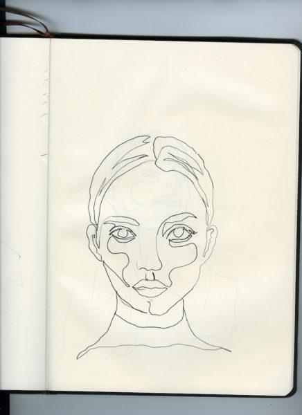 Hier ist die Zeichnung von Annes Bil im Original