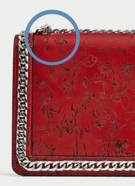 Zeichnung von Annes Bin auf der Zara-Tasche